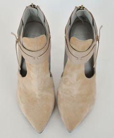 5499b92f95e Beige Darlene Bootie by Plomo Fashion Essentials