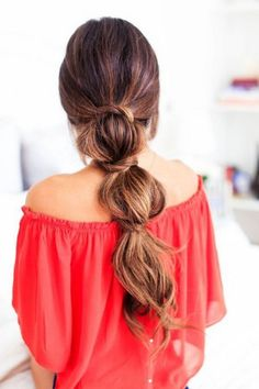 Easy lazy effortless bubble ponytail hairstyle created with Ombre Chestnut Luxy Hair Extensions! Lazy Girl Hairstyles, Easy Summer Hairstyles, Pretty Hairstyles, Hairstyle Ideas, Stylish Hairstyles, Bridal Hairstyles, Short Hairstyles, Layered Hairstyles, Hairstyles 2016