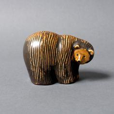 gustavsberg lisa larsson figure bear mid century ceramics