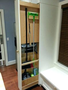 Likeness Of Broom Closet Cabinet Smart And Practical