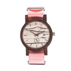 Drewniany Zegarek - Seria Bartolomeo blady róż