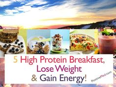 5 High Protein Breakfast, Lose Weight and Gain Energy