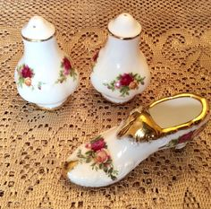 Royal Albert Old Country Roses Salt and Pepper by TheDrippingTap & Find Elegant China and Dinnerware Using USA Craigslist Searcher ...