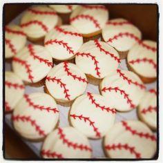 "Photo 4 of Baseball / Birthday ""Baseball Party"" Baseball Birthday Party, Birthday Fun, Birthday Parties, Birthday Ideas, Third Birthday, Baseball Cupcakes, Cupcake Cookies, Party Cupcakes, Deserts"