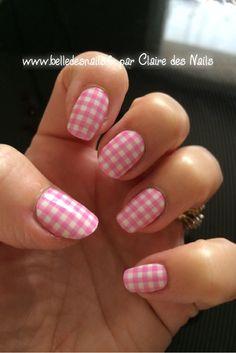 #nailart Vichy #nail #nails #manicure #nailpatch #pink #rose  - Belle des nails by Claire des nails