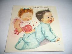 Vintage Greeting Card Get Well Charlot Byj Children Kids