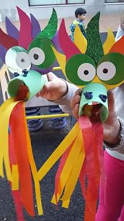 Mini Taller d'Art: Dragón Chino Mini Taller d'Art: Dragón… - bigoltrucks Kids Crafts, New Year's Crafts, Animal Crafts For Kids, Craft Activities For Kids, Summer Crafts, Toddler Crafts, Preschool Crafts, Chinese New Year Crafts For Kids, Chinese Crafts