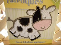 I love the shape of this cow - I'd love to have barnyard animals like this in our nursery!