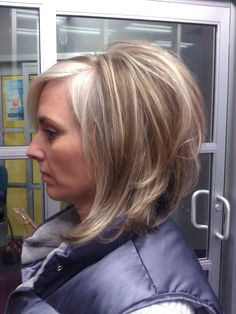 LONG INVERTED BOB AND FUN COLOR  HAIR BY SALONSADIE