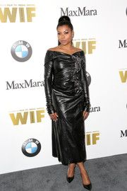 Taraji P. Henson Off-the-Shoulder Dress