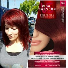 I approve of this color! Vidal Sassoon medium vibrant red 5RR. This is my color in the sun, natural lighting. Love!