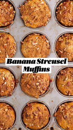 Breakfast Muffins, Breakfast Time, Breakfast Recipes, Dessert Recipes, Veggie Recipes, Baking Recipes, Bee Quotes, Banana Pie, Delicious Desserts