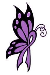 Image result for purple ribbon butterfly tattoo