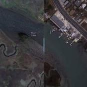 Interactive images show the New Jersey coast before and after Hurricane Sandy.