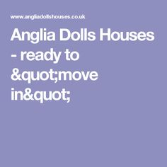"""Anglia Dolls Houses - ready to """"move in"""""""