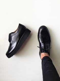 searching for this shoes online. where can i find this shoes? help me to find one. Christian Louboutin N? Sock Shoes, Men's Shoes, Shoe Boots, Dress Shoes, Black Brogues, All Black Sneakers, Christian Louboutin, Mode Man, Mode Outfits