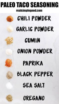 This homemade Paleo taco seasoning mix is EASY to make with spices everyone has in their cupboard. Keep it clean and make your own taco seasoning at home! Paleo, Gluten-Free, Whole 30. | realsimplegood.com