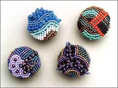 Beaded buttons?  I have never seen these before.  Aren't they beautiful
