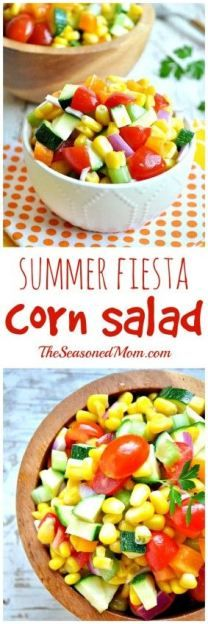 Summer Fiesta Corn Salad is the perfect side dish recipe for any meal, but definitely perfect for dinner or your next pot luck.