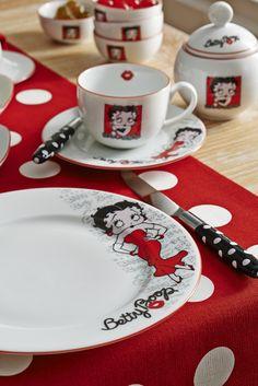 OH, I SO WANT THESE!!!!!! Betty Boop Kahvaltı Seti / Breakfast Set #bettyboop #bernardo #breakfast #red