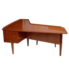 Italian Modern Desk Attributed to Claudio Salocchi for Sormani 1