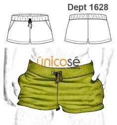 SHORT DEPORTE HOMBRE Mens Sewing Patterns, Sewing Men, Sewing Lingerie, Lingerie For Men, Underwear Pattern, Fashion Design Sketches, Fashion Flats, Apparel Design, Diy Clothes