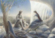 Эльфы любуются рассветом Sunrise by Irsanna on DeviantArt