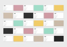 HAY by Emanuele Cecini corporate identity branding stationary business card minimal colors graphic design