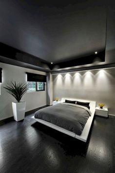 45+ Cozy & Minimalist Bedroom Ideas on A Budget #minimalist #minimalistbedroom #bedroomideas White Bedroom Furniture, Grey Bedroom Decor, Bedroom Inspo, Bedroom Green, Bedroom Black, Wooden Furniture, Budget Bedroom, Bedroom Design On A Budget, Attic Renovation