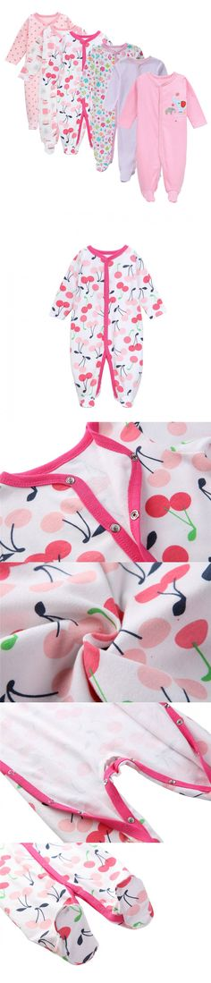 6 Pcs/set Fashion Cotton winter baby rompers newborn baby girl clothes Long Sleeve Jumpsuit roupas infantis menino pink Overalls $60.98