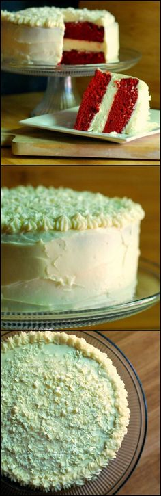 This Cheesecake factory copycat Red Velvet Cheesecake Cake is the World Best Dessert!  We started with the best red velvet cake recipe and added a layer of the creamiest and most delicious cheesecake and then everybody's favorite cream cheese frosting. Last but not least, topped it all with white chocolate shavings.  This is our new GO TO holiday dessert!