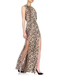 Cream Leopard Keyhole Dress   L'Agence   Avenue32