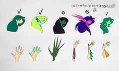 Page of my mermaid drawing guide. This one deals with how the mermaid's hands and ears can be done. For ears, you can go with regular human ears, or . Guide to properly drawing mermaids Drawing Reference Poses, Drawing Skills, Drawing Poses, Art Reference, Anime Mermaid, Mermaid Art, Kawaii Drawings, Cute Drawings, Mermaid Drawings