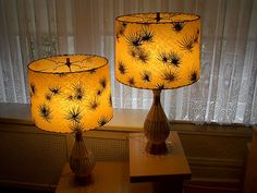 Pair of 50's Vintage Lamps  Ceramic with by FiftiesPaperShaker, $125.00
