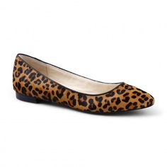 Leopard Calf Hair Pointed Toe Flat - Flats - Shop by Category - Shoes & Bags
