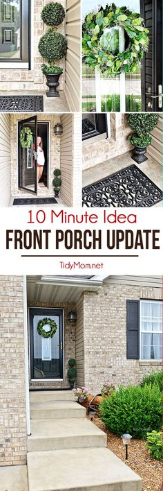 Porch Makeover Details Porch columns Wrought iron and Columns