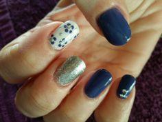Funky denim nail art