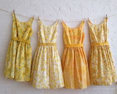 vintage inspired tea dresses for your wedding by sohomode on Etsy.