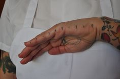 Chefs With Tattoos - LA Weekly, measurements on the hand , and teaspoon and tablespoon measurements in the palm of the hand.