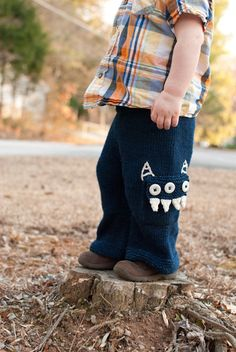 monster toddler pants avec pattern