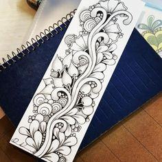 What Is Zentangle, Zentangle Pens, Zentangle Drawings, Doodles Zentangles, Painting & Drawing, Flower Art Drawing, Doodle Patterns, Zentangle Patterns, Zen Doodle