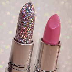 Mac has sparkly lipstick? OMG how about you just fulfill my sparkle obsession!