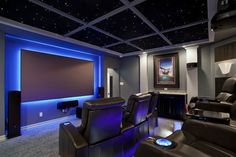 Pretty palliser in Home Theater Contemporary with Sci-fi next to Home Theatre Lighting alongside Theater Room Ideas and Crown Molding Ideas