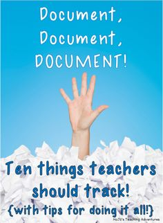 HoJo's Teaching Adventures: Do you need to be better about documentation in your classroom? This post will give you great ideas and tips to get started and stay organized! Great tips for teacher documentation here!