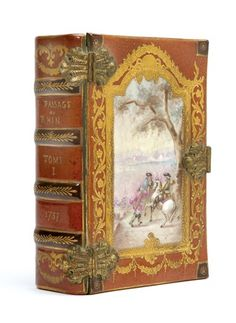 Porcelain and gilt bronze mounted jewel box book, circa 1900,  .....a place to safely keep my vintage jewels!!  (I wish!!)