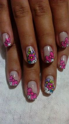 Bellas! Luminous Nails, Gel Designs, French Tip Nails, Super Nails, Spring Nails, Fall Nails, Gel Nail Art, Flower Nails, Christmas Nails