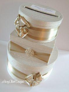 Wedding Card Box, Gift Box, Bling Card Box, Rhinestone Money Holder  - Custom Made
