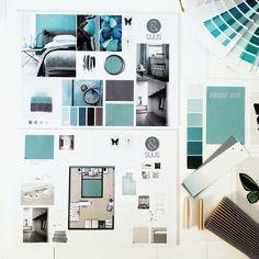 Mood Board Interior, Interior Design Boards, Interior Design Portfolios, Cottage Design, House Design, Interior Design Presentation, Hotel Room Design, Clinic Design, Flat Design