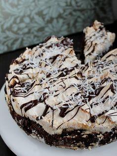 Brownie Meringue Cake