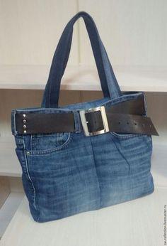Женские сумки ручной работы. Ярмарка Мастеров - ручная работа. Купить Текстильная сумка под джинсы. Handmade. Голубой